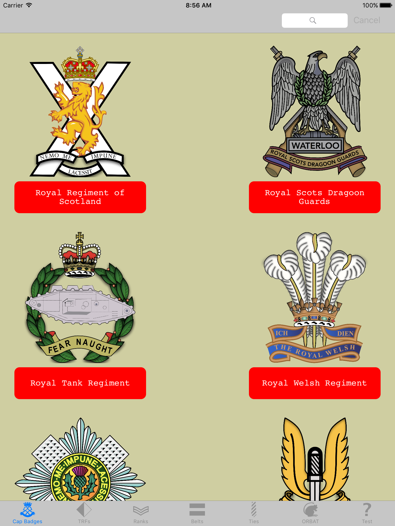 Army Badges - Cap Badges